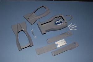 Tyrrell 001 monocoque, the individual elements